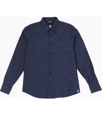 camicia in cotone melange