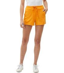 women's michael stars otto cutoff shorts, size large - yellow