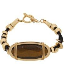 robert lee morris soho tiger eye leather bracelet