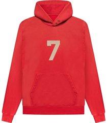 7 hoodie sweatshirt vintage red