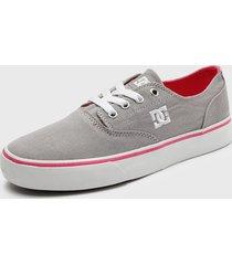 zapatilla   flash 2 tx mx j shoe  gris dc