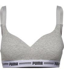 puma iconic padded top 1p hang lingerie bras & tops t-shirt bra grå puma