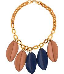 marni short necklace - blue
