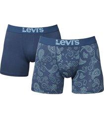 levis boxershort 200sf 2-pak paisley blue