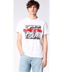 camiseta diesel t-joe-sa   masculino branco