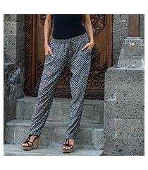 rayon pants, 'weekend getaway' (indonesia)