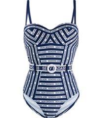 marlies dekkers sexy badass print swimsuit - blue