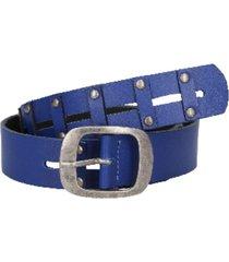 cinturón cuero azul zappa