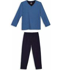 conjunto de pijama masculino lupo manga longa
