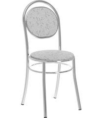 conjunto 2 cadeiras 190 tecil fantasia móveis carraro branco