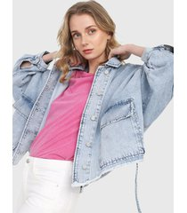 chaqueta azul denim mng