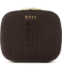 0711 medium ela cosmetic bag - brown