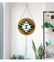 drewniany obraz mozaika - nature circle