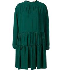 nº21 flared zip-up dress - green