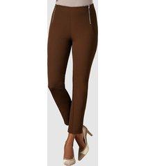 byxor med hög midja alba moda brun