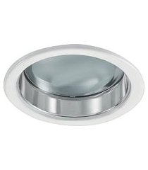luminária de embutir redonda branca 2xe27 bonin 4094bc