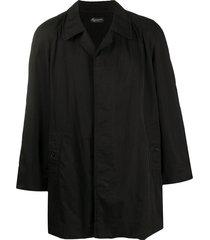 burberry pre-owned 1990s long sleeve short coat - black