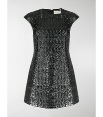 saint laurent sequinned short dress