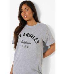 california t-shirt, grey marl