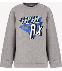 ax armani exchange graphic-print sweatshirt