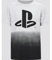 playstation t-shirt i bomull - melerad grå