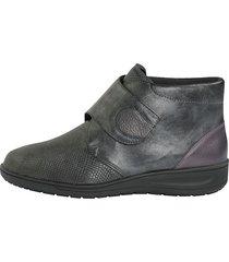 skor med kardborreband solidus antracitgrå