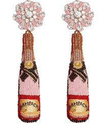 rose champagne earrings