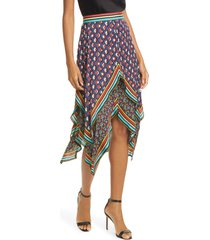women's alice + olivia maura tiered handkerchief skirt