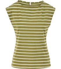 blutsgeschwister top logo stripe groen