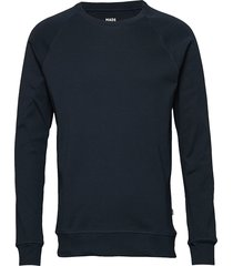 cotton rib stelt sweat-shirt tröja blå mads nørgaard