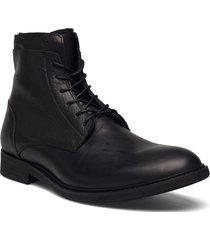 biadaimon laced up boot snörade stövlar svart bianco