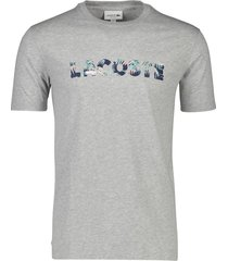 t-shirt lacoste ronde hals grijs 100% katoen