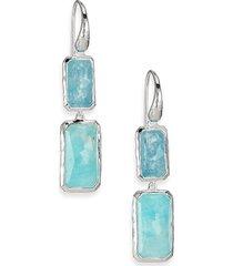 ippolita women's rock candy sterling silver, larimar & aquamarine drop earrings
