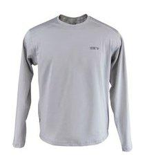 blusa térmica masculina segunda pele thermo premium original regular fit - cor cinza