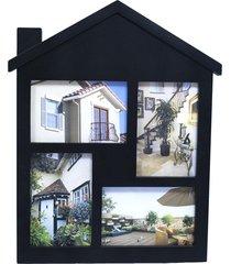 porta retrato minas de presentes 4 fotos 10x15cm preto