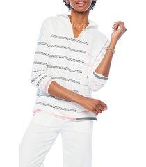 women's nic+zoe cozy-up hoodie sweater, size x-small - white