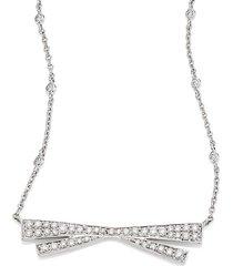 origami large diamond & 18k white gold pendant necklace