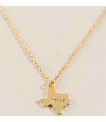 texas pendant necklace in gold - gold