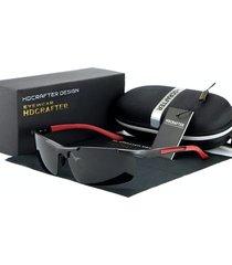 gafas lentes sol profesionales hdcrafter 8530 negro rojo