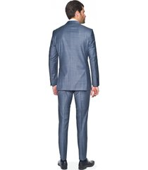 garnitur toris 311 granatowy slim fit