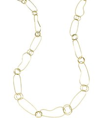 classico 18k gold kidney chain necklace
