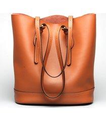 ekphero donna borsa a secchiello tote bag in pelli vere a fascia alta