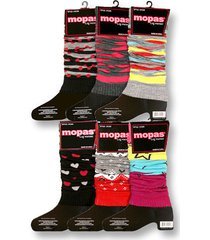 womens leg warmers assorted patterns mopas warm winter wear one size fits most