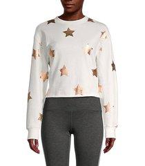 stars cotton-blend sweatshirt
