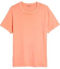 men's madewell garment dyed allday crewneck t-shirt, size xx-large - coral