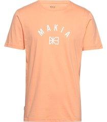brand t-shirt t-shirts short-sleeved orange makia