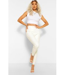 pu legging, white