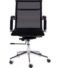 cadeira de escritório tela baixa - preta