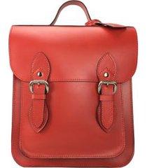 mochila satchel em couro - camerum satchel 9304sl a