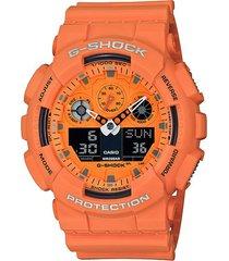 reloj g-shock modelo ga-100rs-4adr coral hombre